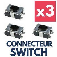 3x Switch Bouton Boitier Clé Télécommande Plip pour FIAT Ducato Scudo Fiorino
