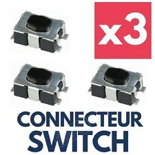 3x Switch pour Coque Clé Télécommande Plip CITROEN C4 Picasso C1 C2 C3 C5 C6 C8