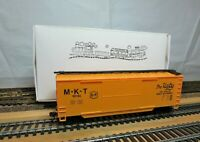 "AHM 5298 HO Scale 40' Double Door Boxcar Wood Sheathed ""The Katy"" with KD's"
