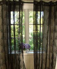 Vorhang MILA Schwarz Gardine 135x240 2 Stück LillaBelle Shabby Gothic Vintage