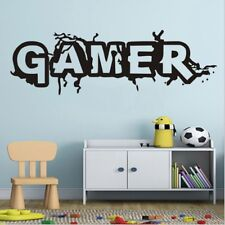GAMER Letter Room Quote Wall Art Stickers Decals Vinyl Kids Room Decor Cool