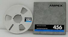 """Ampex 456 Metal Aluminum tape Reel  1/4"""" no tape  10.5"""" 10"""" w/ CLEAN BOX"""