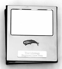 More details for whale design silver personalised photo album free engraving 100 photos 392