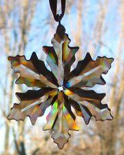 SWAROVSKI CHRISTMAS 2014 Annual Little Snowflake Golden Shadow Ornament SCS NIB