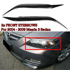 Car Front Headlight Eyebrows Eyelids Lids Cover For Mazda 3 Sedan 2004  *//