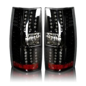 LED Taillight for 2007-2013 Chevrolet Suburban Tahoe - Gloss Black/Clear