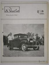 June 1964 A Quail Call Penn-Ohio Ford Model A Inc. Club Magazine