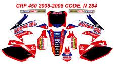 N 284 HONDA CRF 450 2005-2008 Autocollants Déco Graphics Stickers Decals Kit