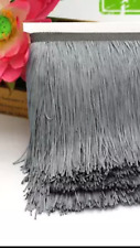Grey 15cm Braid Trim Tassel Fringe DIY Price per 30cm DIY Craft Sewing