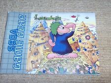 LEMMINGS – SEGA GAME GEAR Instruction Manual