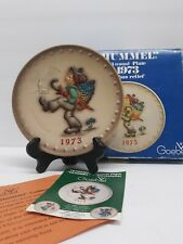 "Vintage M.J. Hummel Goebel 6"" Hanging Plate 1973 3Rd Annual Hum266 West Germany"