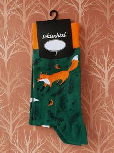 Mens Fox Socks (Pair) Fun Animal Socks