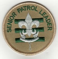 "Senior Patrol Leader Patch (2015-Current), Tan Brd, ""Since 1910"" Slogan Back"
