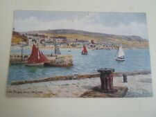 A R QUINTON Postcard 2241 LYME REGIS FROM THE COBB Franked+Stamped 1926   §A2231