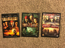Dvd Lot Of 1 2 & 3 Pirates Of The Caribbean Movies