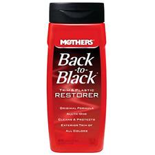 Mothers 06112 12 oz Back to Black Car Exterior Plastic and Trim System Restorer