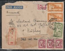 1949 French Colony Indo China recorded Air Mail, from Saigon to Haiphong.