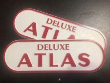 Silver Streak Deluxe Atlas Vintage Travel Trailer Camper Coach Emblem set 2