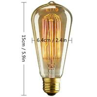 6x E27 40/60W Retro Filament Edison Light Bulb Industrial Squirrel Cage Vintage