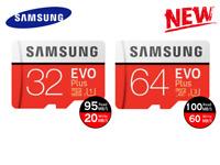 Samsung EVO Plus Memory Card 64GB 32GB Micro SD SDHC SDXC Lot 100MB/s 4K Class10