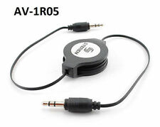 5ft Retractable 3.5mm Stereo Male to Male  Flexible Audio Cable, AV-1R05