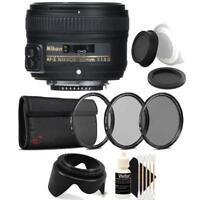 Nikon AF-S NIKKOR 50mm f/1.8G Lens with Accessories For Nikon DSLR Cameras