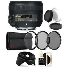 Nikon AF-S NIKKOR 50mm f/1.8G Lens with Accessories For Nikon DSLR Cameras