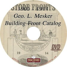 1905 & 1914 Mesker Building Front Catalogs { Commercial Store Designs } on DVD