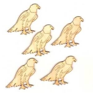 Adler aus Holz, Deko 7 cm hoch, zum Basteln für Adler Freunde, Karten Basteln