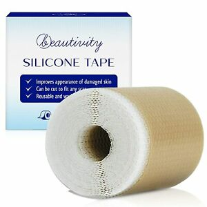 """Scar Removal Silicone Tape for Hypertrophic Scars and Keloids,1 Roll,1.6"""" x 60''"""