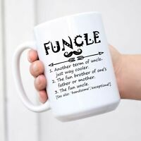 Funny Funcle Definition Uncle Ceramic Coffee Mug Birthday Gift for Uncle Brother