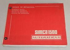 "Officina Manuale/Workshop Manual SIMCA 1500 cambio automatico ""Borg Warner"""