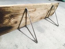 Metal prism Shelf Brackets - Industrial style 1 x pair made by THE IRON MILL UK