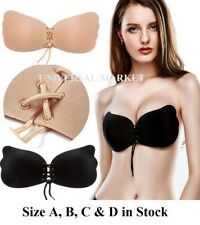Silicone Invisible Strapless Bra Self Adhesive Stick On Push Up Gel Backless Bra