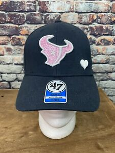Houston Texans 47 MVP Adjustable Black Kids Youth Hat Cap Glitter Logo