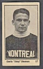 1924-25 Maple Crispette Charlie Dinsmore Rookie Card. Montreal Maroons Rare Card