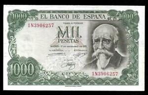 Spain 1971 (1974) 1000 Pesetas P154 - AU Bank of Spain Commemorative