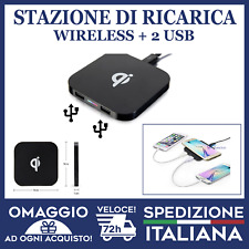 CARICATORE WIRELESS + 2 USCITE USB QI universale per android e iphone 🇮🇹