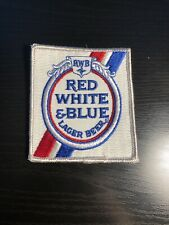 VINTAGE RED WHITE BLUE BEER PATCH