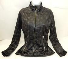 Sunice Women's Christine Full Stretch Cycling Jacket, Black Squares Print, Small