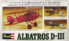 Revell 1/72 H74 Albatros D-III (Collector's Choice, No Machine guns, fair box)