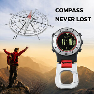 SPOVAN Smart Watch Altimeter Barometer Compass LED Clip Watch Sports B8I4