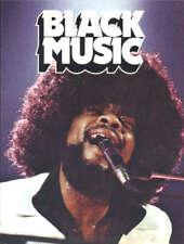 BLACK MUSIC 1974 UK Hardcover NICE COPY! Music History Pop Soul R&B - Uncommon