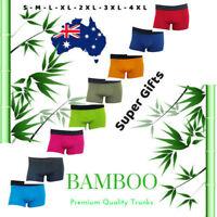 Men's Bamboo Underwear Plus Sizes Trunks Boxers Jocks 4XL 3XL 2XL Anti-bacterial