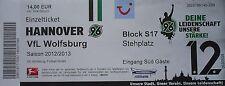 TICKET 2012/13 Hannover 96 - VfL Wolfsburg