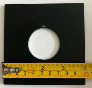 """4"""" x 4"""" Metal 39mm Lens Board for large format cameras, NOS no box"""