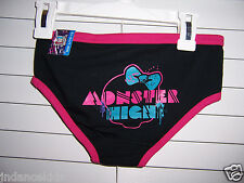 Monster High Skullette Girls Hipster  Underwear Size L 10-12 NWT Black/Pink/Blue