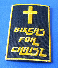 BRAND NEW BIKERS FOR CHRIST CROSS JESUS CHRISTIAN BIKER IRON ON PATCH STYLE#2