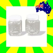 4 x Plastic Bottles 200ml Clear 82x55mm Screw Cap Jars