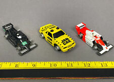 (3) Vintage TYCO Jam Cars F-1 Indy Cars QUAKER STATE & ORG/WHT No.2 & YELLOW CAR